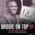 """【NBA】182次三双!威少超越传奇""""大O"""",成为三双记录的历史第一人"""